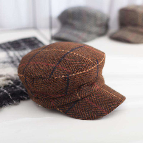 Winter Vintage Checked Hat gallery 1