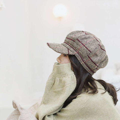 Winter Vintage Checked Hats gallery 6