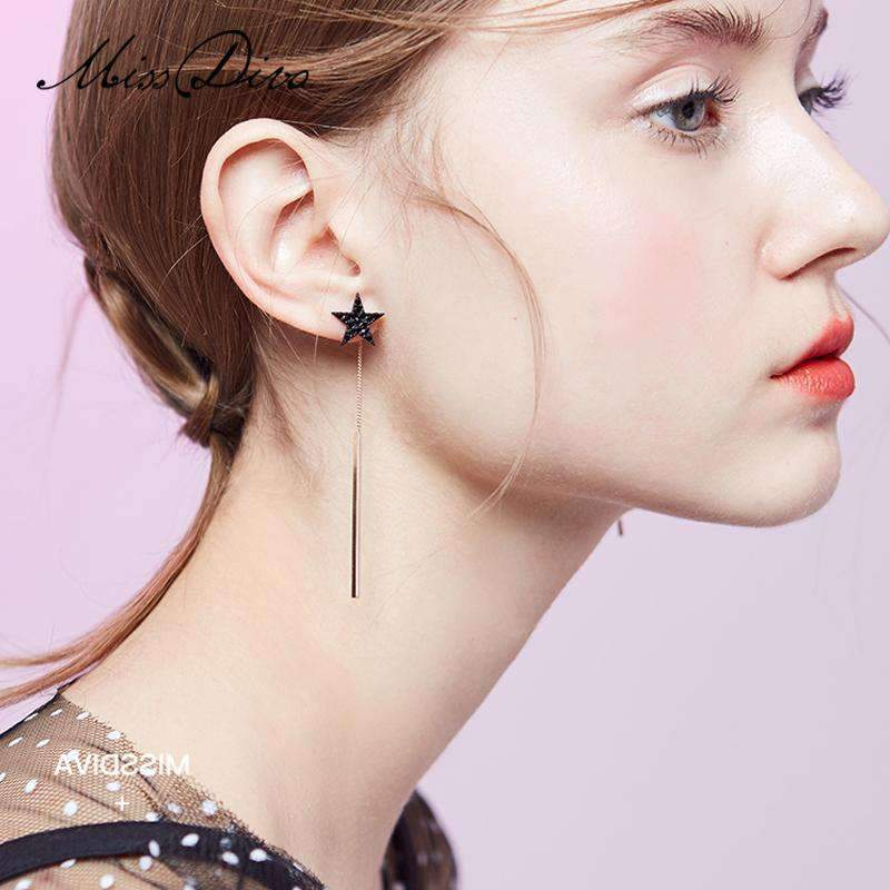 Elegant Star Long Drop Earrings