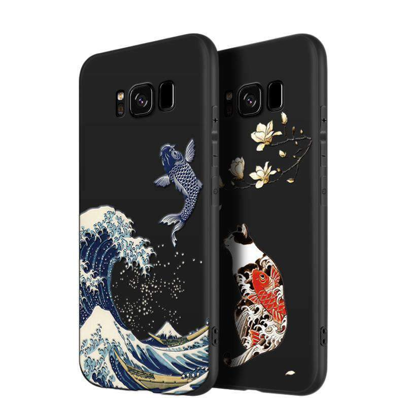Elegant Anti-Fall Full Cover Phone Case for Samsung