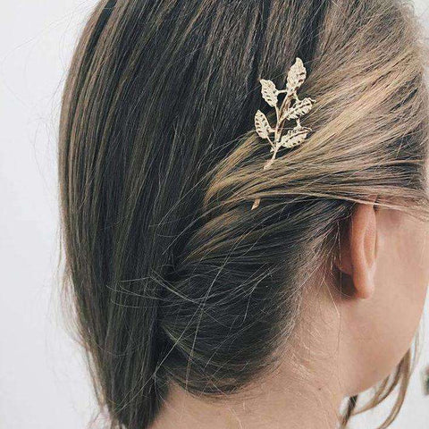 Leaf Shaped Decorated Hair Clip gallery 4