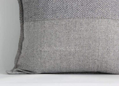 Monochrome Houndstooth Woven Pillow Cover gallery 4