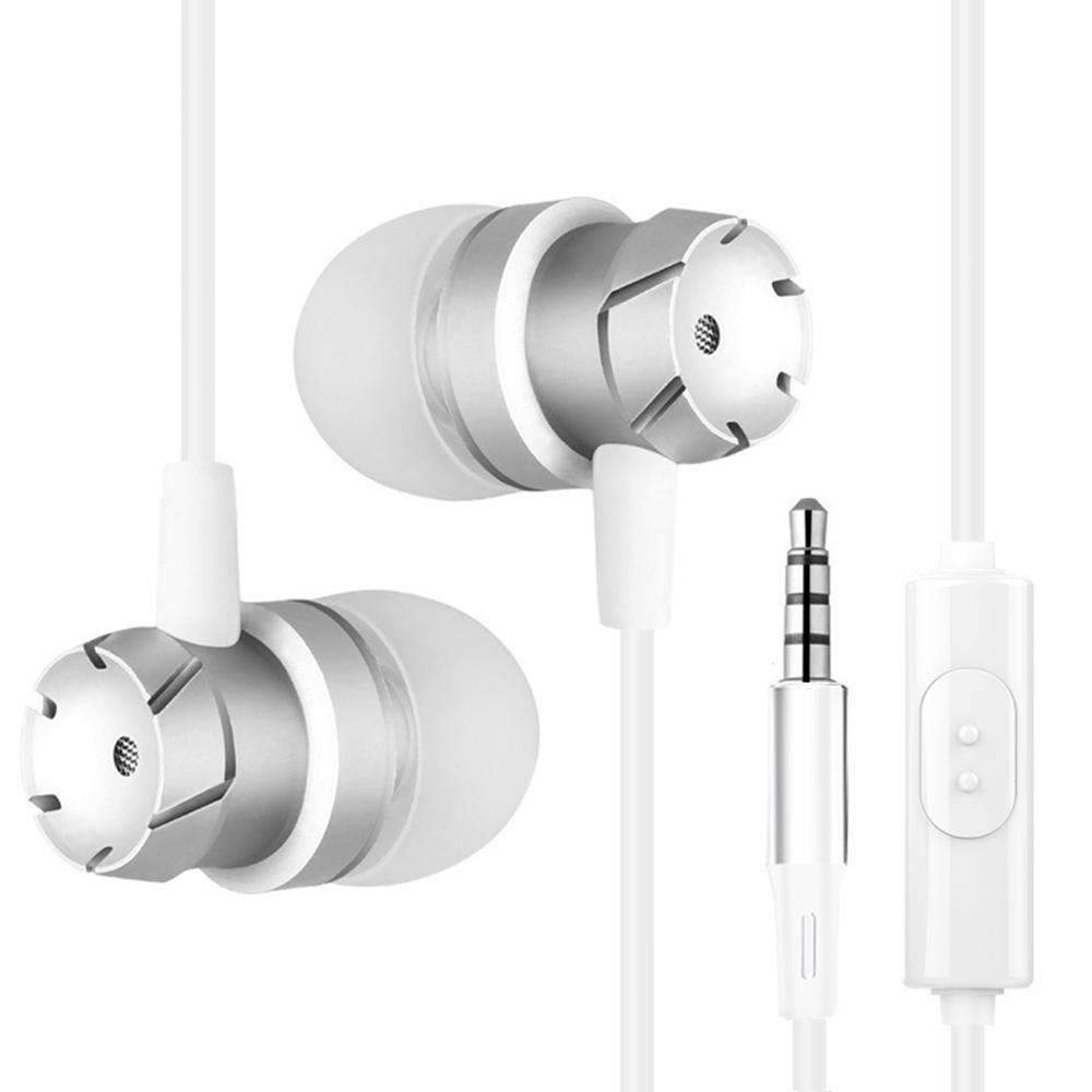 3.5mm Wired Headphone In-Ear Stereo Music Headset Smart Phone Earphone Earpiece Hands-free with Microphone In-line Control
