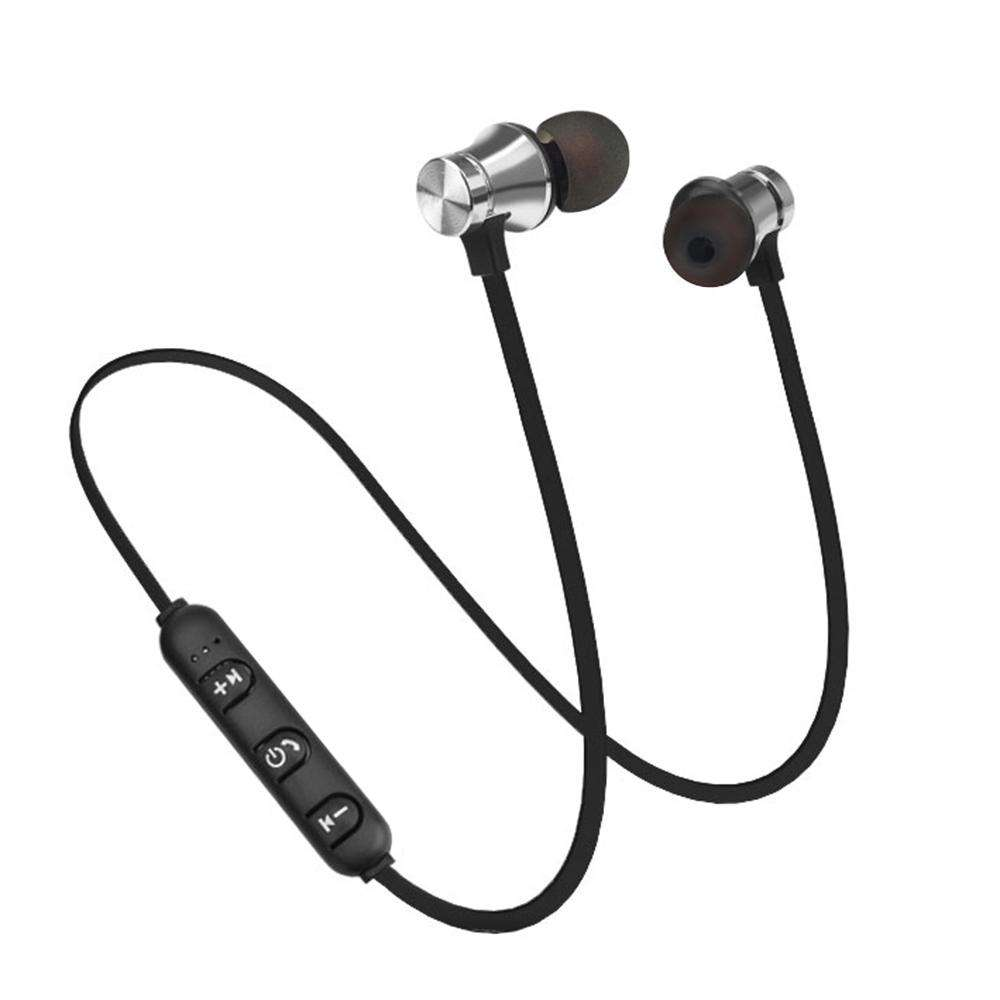 XT-11 Bluetooth 4.1 Wireless In-ear Headphones Outdoor Sport Headsets Music Earphone Magnetic Suction Built-in Microphone Line Control Silver