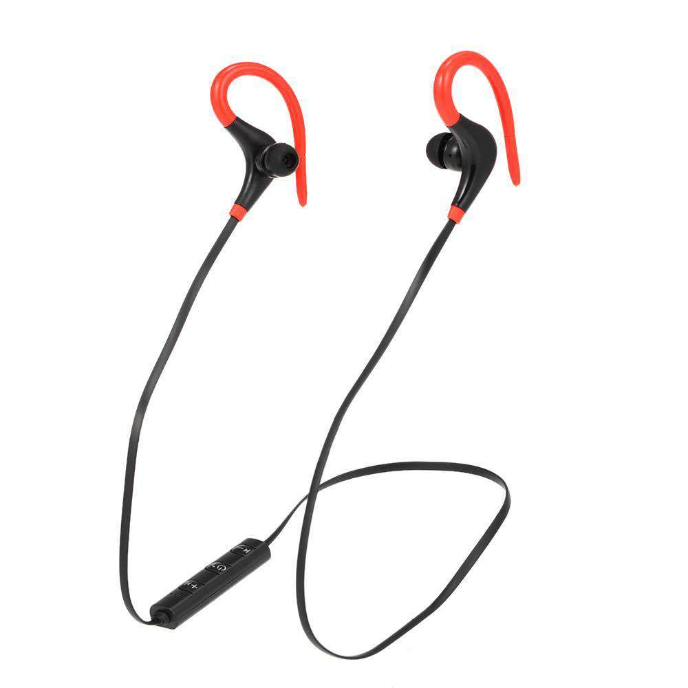 bt-1 Wireless Bluetooth Earphone In-Ear Sports Sweatproof Earphones Earbuds Headset with Mic for iPhone Smartphone Tablet Red