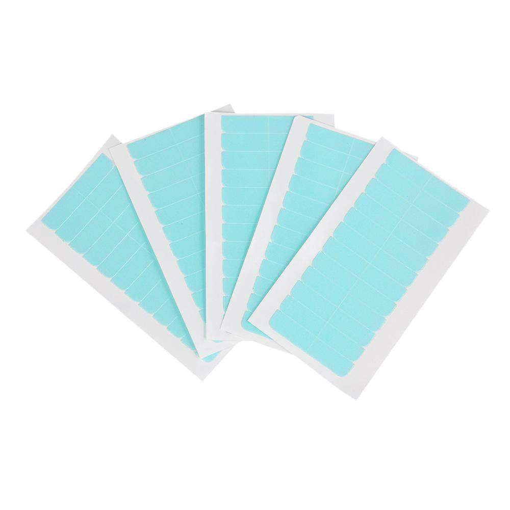 5 Sheets 60pcs Hair Tape Adhesive Glue 4cm*0.8cm Double Side Tape Waterproof For Lace Wig Hair Extension Tool