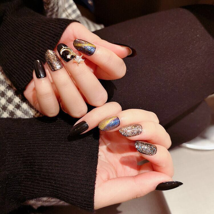 Meteor Shower Magic Press On Nail Manicure