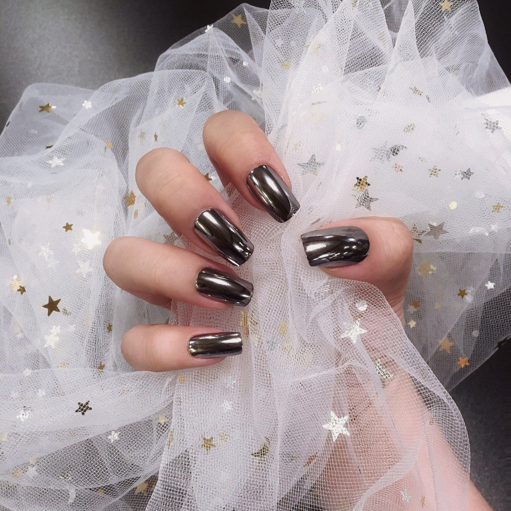 Planisphere Ash Chrome Magic Press Nail Manicure