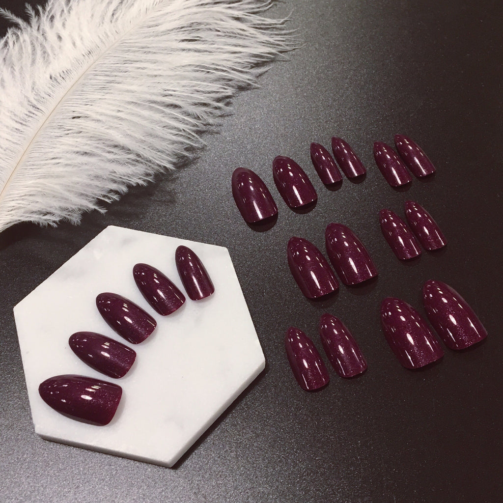Rhinestone Violet Crystal Magic Press Nail Manicure