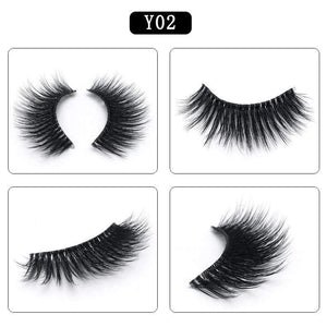 Mink Hair Natural Looking False Fake Eyelashes Cross Thick Eye Lashes y02