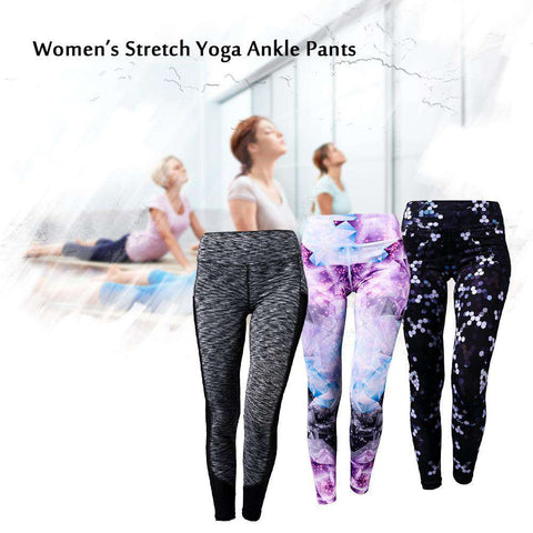 Women's Yoga Ankle Pants Tummy Control Active Workout Fitness Running Stretch Tights Leggings gallery 10