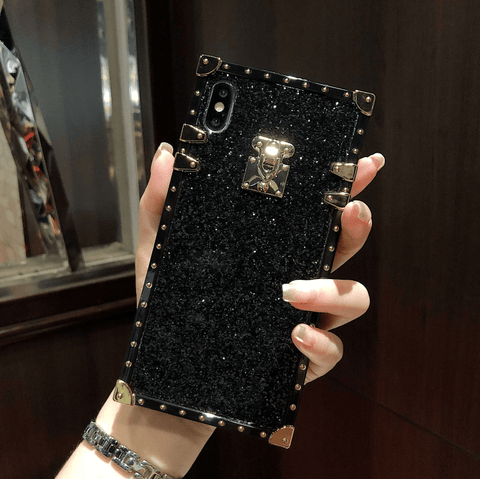Sparkle Sequins Detail Square Phone Case for Samsung gallery 6