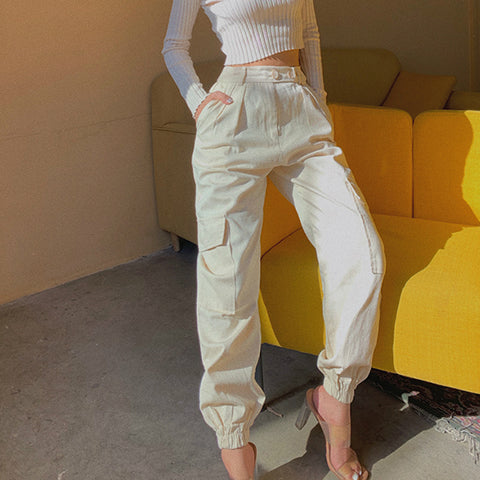 High Waist Straight Leg Cargo Trousers gallery 7
