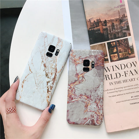 Matte Marble Printed Phone Case For Samsung gallery 2