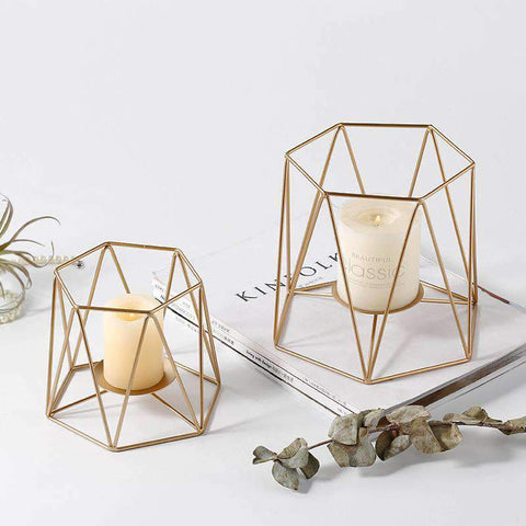 Metal Grid Candle Holder gallery 1