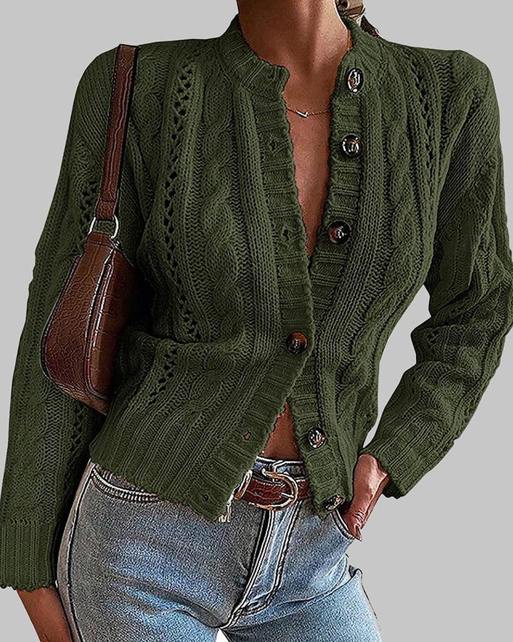 Chunky Knit Button Front Sweater gallery 4