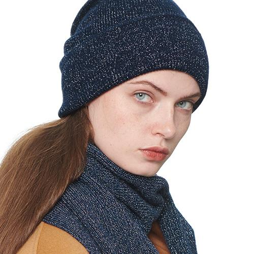 3 Colors Rib Knit Cuffed Wool Beanie