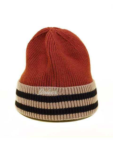 Embroidery Letter Striped Beanie Hat gallery 11