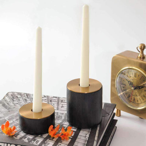 Neo-classical Wooden Candlestick Holder gallery 1