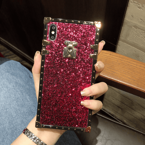 Sparkle Sequins Detail Square Phone Case for Samsung gallery 3