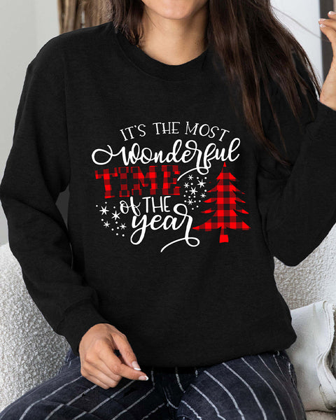Christmas Slogan Graphic Drop Shoulder Sweatshirt