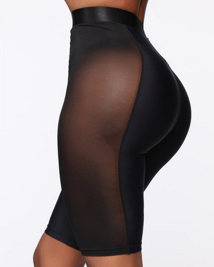 Solid Contrast Mesh Sports Shorts gallery 2