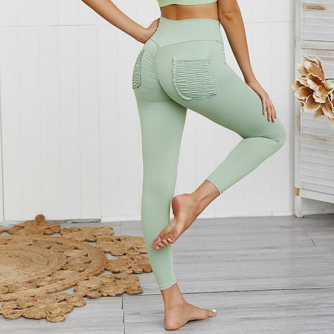10 Colors Hip Lifting Hyper Flexible High-Rise Tummy Control Workout Leggings gallery 33
