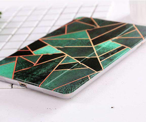 Contracted Patchwork Rhombus Apple iPad Cover Case gallery 3