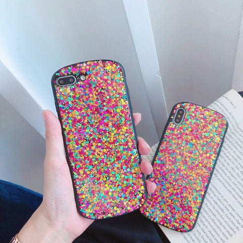 Glitter Colored Sequins Detail Phone Case for Samsung gallery 2