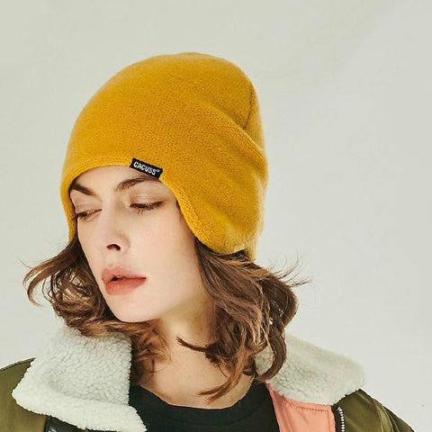 3 Colors Solid Wool Knit Earflap Beanie gallery 1