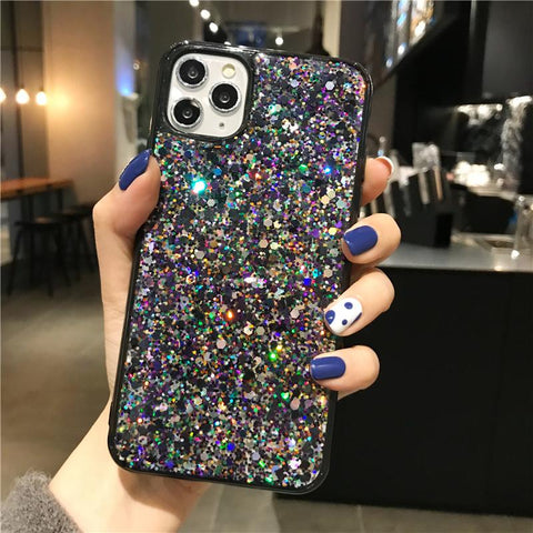 Luxury Sparkle Sequins Bling Shockproof Phone Case for Samsung gallery 5