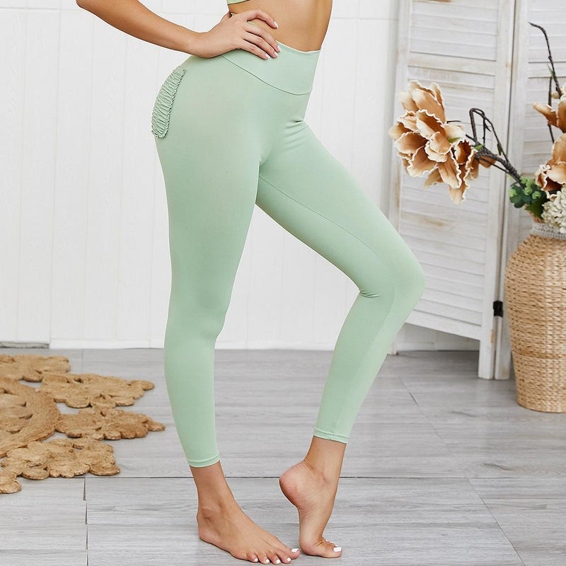 12 Colors Hip Lifting Hyper Flexible High-Rise Tummy Control Workout Leggings