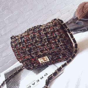 Classic Collection Tweed Shoulder Bag