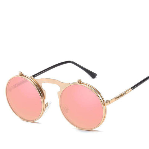 Vintage Dazzle Circle Shape Clamshell Sunglasses gallery 2