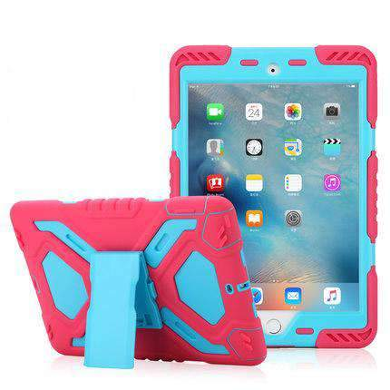 Color Patch Removable Silica Gel iPad Cover Case