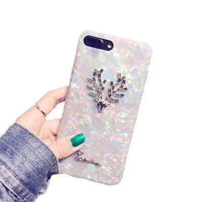 Dreamy Shell Pattern Antlers iPhone Case