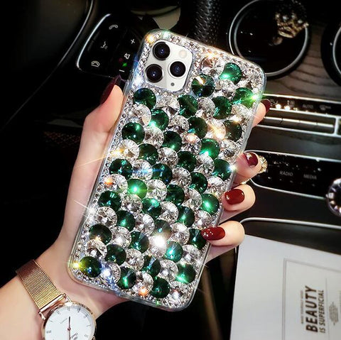 Full Rhinestone Cover Shockproof Phone Case for Samsung gallery 2