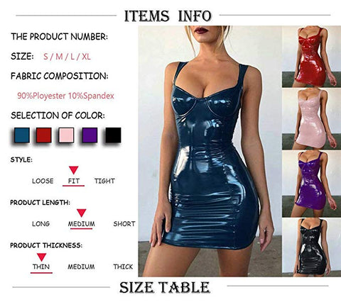 Sexy Royal Blue Patent Leather Bodycon Strappy Dress gallery 9
