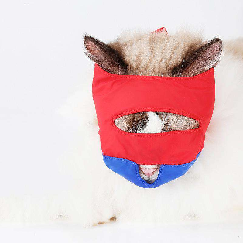 Small Pet Cat Breathable Mesh Anti Bite Cat Muzzle Mouth Mask
