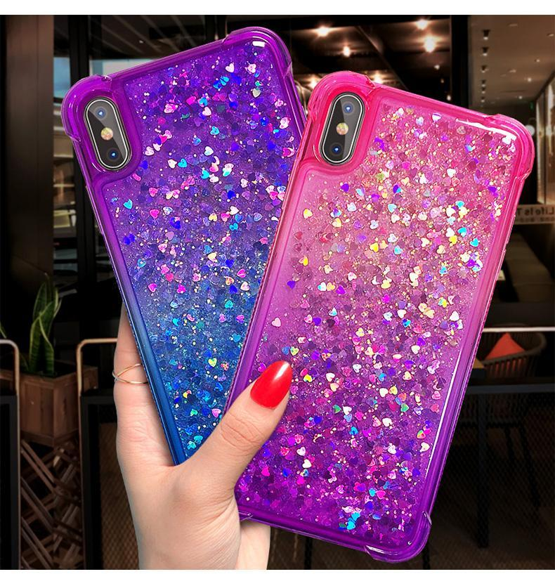 Dazzle Ombre with Heart Shape Foils Phone Case for Samsung