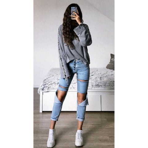 High Waist Straight Light Wash Cropped Jeans