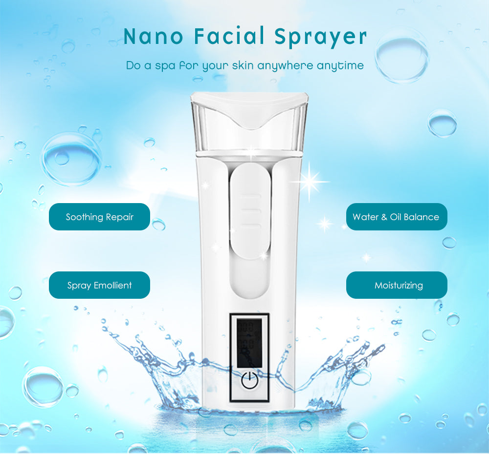 Nano Facial Sprayer Mini Handy Steamer Hydrating Moisturizing Beauty Instrument
