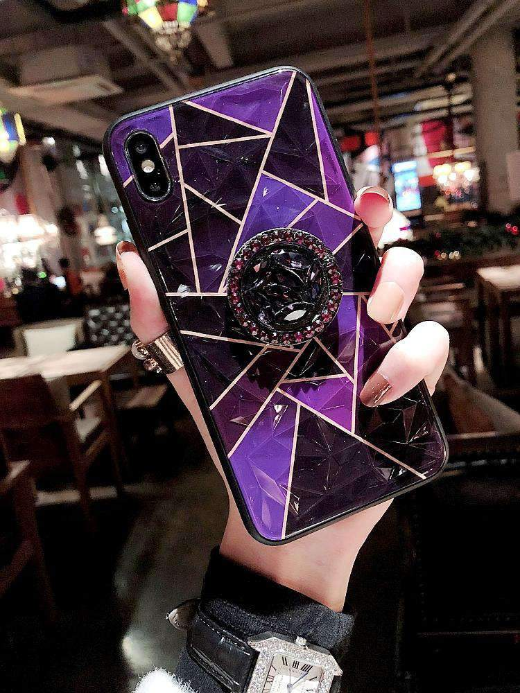 Diamond Shaped iPhone Case with Ring