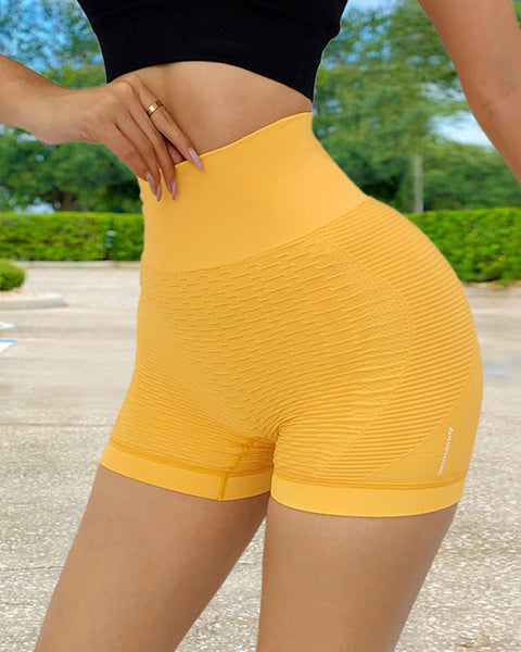 Wide Waistband Textured Sports Shorts gallery 4