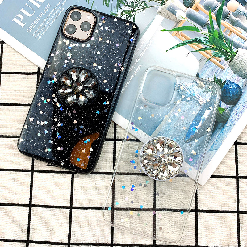Glitter Stars Starry Night iPhone Case with Phone Holder