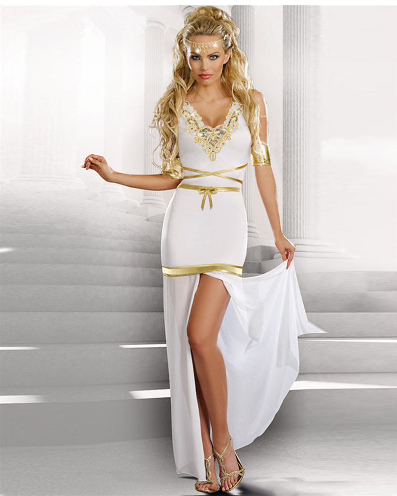 Split Hem Greek Goddess Costume Dress