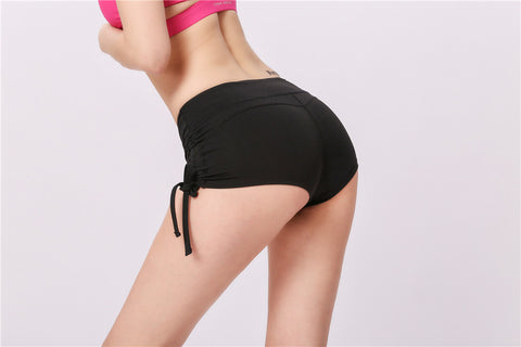 Solid Side Drawstring Butt Lifting Active Shorts gallery 7