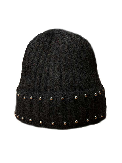 Punk Style Beaded Knit Beanie Hat gallery 11