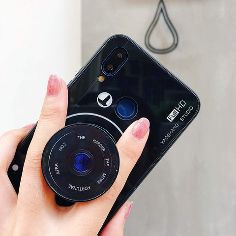 Chic Camera Design iPhone Case with Phone Holder and Hand Strap gallery 4