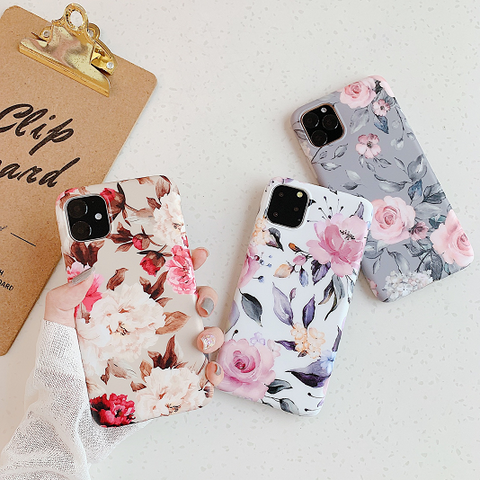 Rose Flower Print Phone Cases For All iPhone